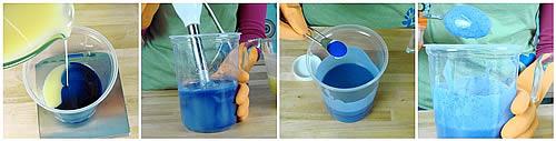 blue man cold process soap